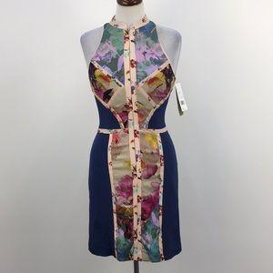 NWT Nicole Miller Artelier Floral Vanguard Dress